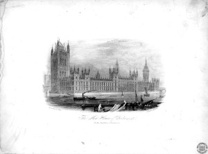 "The ""new"" Houses of Parliament. Image property of Westminster City Archives."
