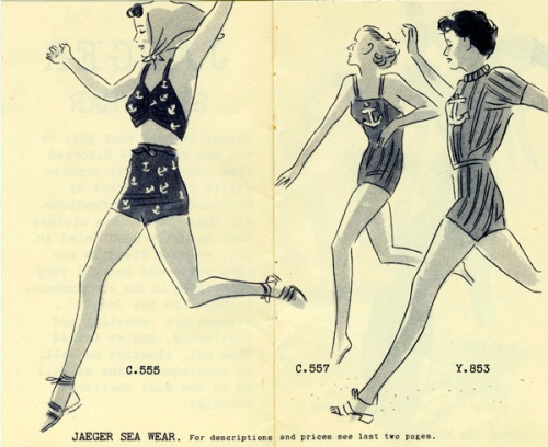 Jaeger Ladies' Swim and sun suits catalogue, 1938. Image property of Westminster City Archives.