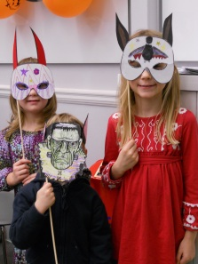 Hallowe'en mask making at Victoria Library