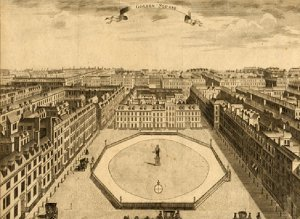 Golden Square, where Blake was born, sketched in 1754. Image property of City of Westminster Archives Centre.