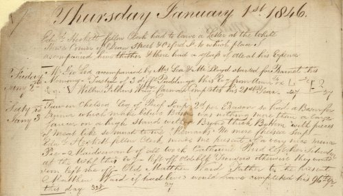 How it all began - the first diary entry, 1 January 1846