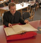 Steven Saxby's visit to the Archives Centre