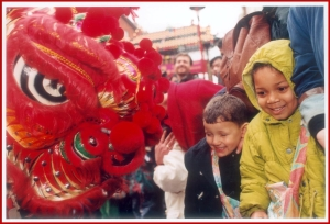 Chinese New Year. Image property of Westminster City Archives.