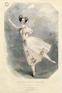 Portrait of Mademoiselle Taglioni, one of 19th century's the most famous dancers. Image property of Westminster City Archives.