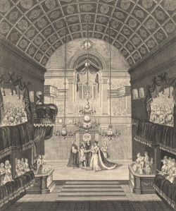 A royal wedding at St James's Palace in 1734 (image property of Westminster City Archives). Find out more about this picture by visiting A Date with History.
