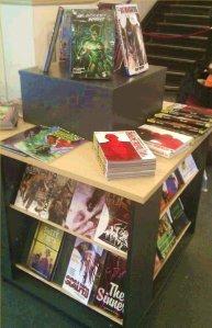Graphic Novel display at Victoria Library