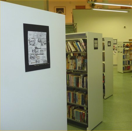 Work from 'Little Big Stories' on display in Pimlico Library