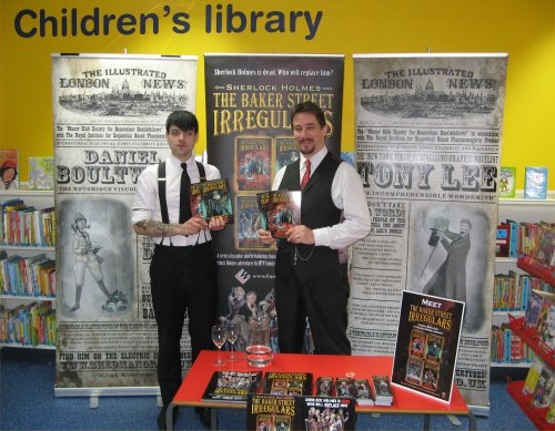 Dan Boultwood and Tony Lee (the 'Baker Street Irregulars') at Marylebone Library