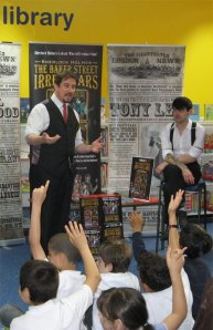 Tony Lee and Dan Boultwood (the 'Baker Street Irregulars') at Marylebone Library