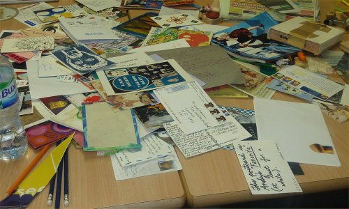 Mail Art workshop at Pimlico Library