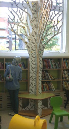 The new children's area at Queen's Park Library
