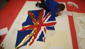 Working on an image at Burdett-Coutts Primary School