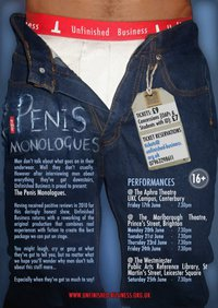 Poster for 'The Penis Monologues'