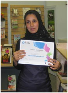 Suhad, the Six Book Challenge national prize winner