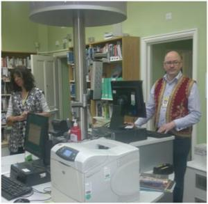 Snazzy waistcoats at Queen's Park Library!