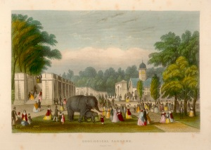The Zoological Gardens, Regent's Park, c.1828. Image property of Westminster City Archives.
