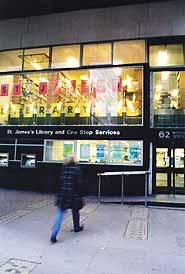 St James's Library in Victoria Street - now closed.