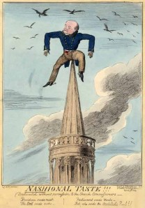 Cruickshank sketch of architect John Nash. Image property of Westminster City Archives.