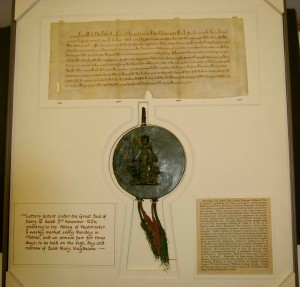 Our very oldest item: a letters patent dating back to 1256! Westminster City Archives