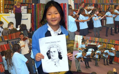 The 'Bridge to the Community' Project visits Westminster Music Library