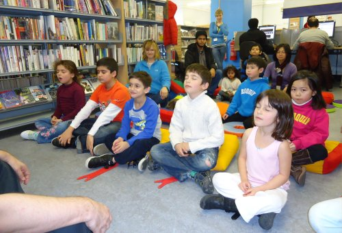 Family yoga at Paddington Library