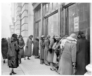Shoppers hit the Regent Street Liberty store in the 1920s. Image property of Westminster City Archives.