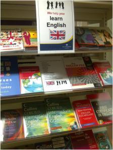 'Learn English' display at St John's Wood Library