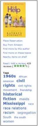 Tags & reviews on the Westminster Libraries catalogue