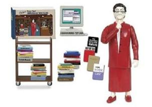 Nancy Pearl Deluxe action figure - with amazing shushing action!