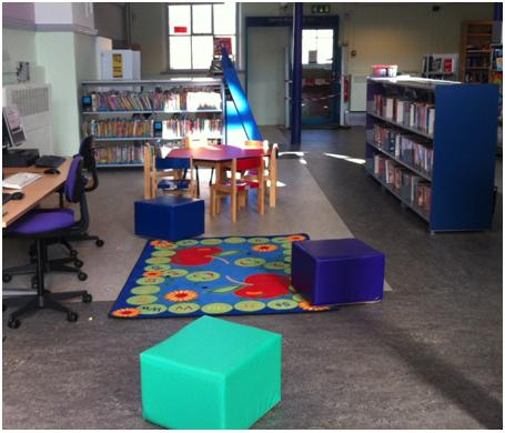 Maida Vale Library: refurbished children's area