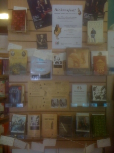 Dickens display at St John's Wood Library