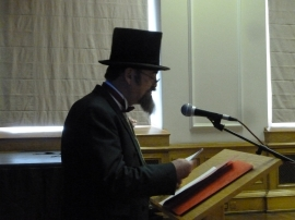 Charles Dickens (aka Christopher West) at Dickensfest! Image courtesy of Clare Brant