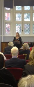 Lucinda Dickens Hawksley, the great-great-great granddaughter of Charles Dickens, at Mayfair Library