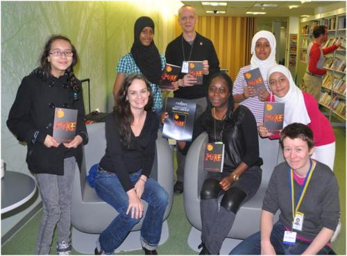 Julianna Baggott and the Church Street Library MyVoice group