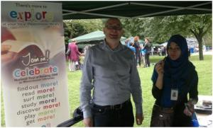 Hugh and Sultana at the WECH Summer Festival