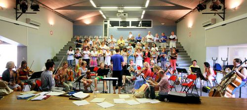 Choir and orchestra rehearsal - image courtesy of Pyjama on Flickr
