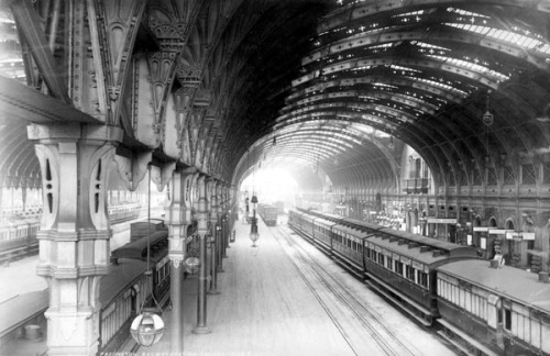 Paddington is better known for its magnificent railway station than for its Saxon namesake. Image property of Westminster City Archives.