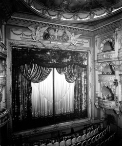 The opulent interior of Wyndham's theatre, photographed in 1899. Image property of Westminster City Archives