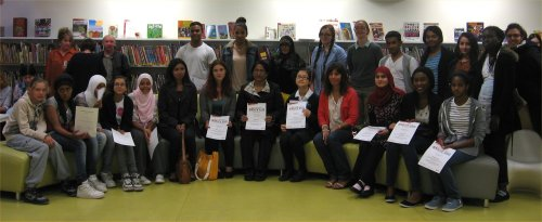 Westminster Libraries says 'thank you'  to the Story Lab volunteers 2012