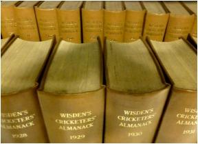 Long runs of Wisden Cricketers' Almanack at Marylebone Information Service