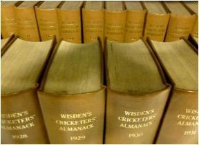 Long runs of Wisden Cricketers' Almanack at Marylebone Information Service