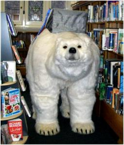 Polar Bear visits Mayfair Library