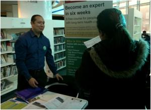 Davendra Dangol of the Expert Patients Programme at Shepherd's Bush Library