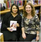 Author Sunita Pattani and Victoria Library Manager Ann Farrell