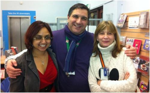 Nisha, Yannie and Kate at the Paddington Library health event
