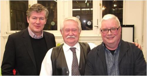 Andrew Williams, Mike Ripley and Robert Ryan at Victoria Library, February 2013