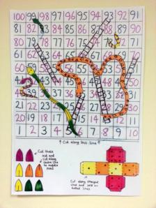 DIY Snakes & Ladders at Maida Vale Library