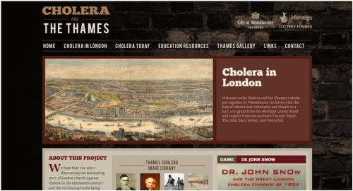 Cholera and the Thames website