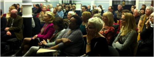 A rapt audience for Ruth Rendell at Mayfair Library, February 2013