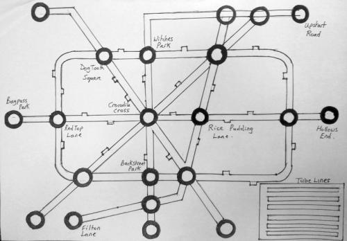 Alternative underground map - Maida Vale Library, April 2013